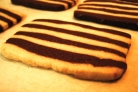 Striped Shortbread Cookies